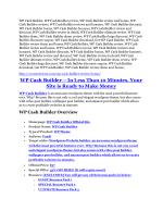 WP Cash Builder Review and Premium $14,700 Bonus