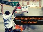 Anti-Mugabe protests turn violent