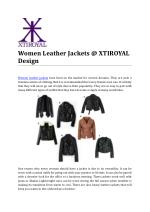 Women Leather Jackets @ XTIROYAL Design