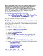 IM Affiliate Funnel 2 Review and IM Affiliate Funnel 2 (EXCLUSIVE) bonuses pack