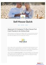 Approach A Company To Buy House Fast Cash Placida In An Online Deal