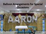 Balloon Arrangements for Special Occasions