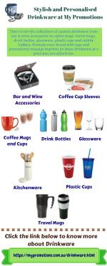 Shop for Personalised Drinkware at My Promotions Australia