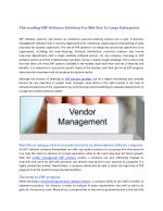The Leading ERP Software Solutions For Mid-Size To Large Enterprises