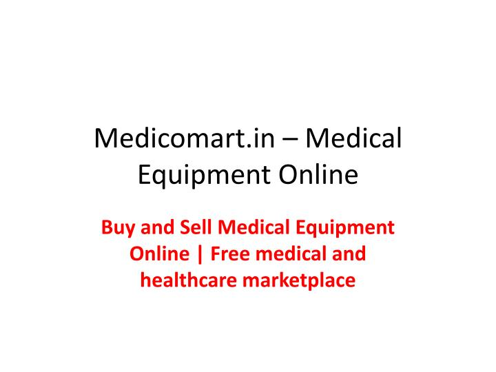 uk availability 679d3 9e7c4 Free listing service for buying, selling, donating, new and used home  medical equipment - PowerPoint PPT Presentation