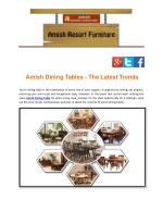 Amish Dining Tables - The Latest Trends