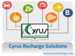 Cyrus Recharge Solution - Travel Booking Software with API Integration