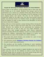 Acquire the Advantages for Children Members of a Church Ministry