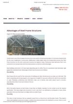 Steel Frame Structures For Infra Structural Projects