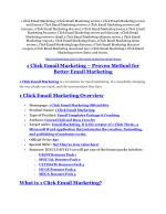 1 Click Email Marketing Review - 80% Discount and $26,800 Bonus