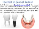 Dental clinic in East of kailash