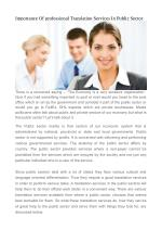 Importance Of professional Translation Services In Public Sector