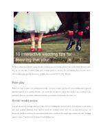 10 Interactive wedding tips for assuring that your wedding is fun!
