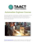 Automation Engineer Courses