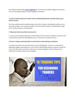 Share Market Tips | Helpful Trading Tips For Beginners