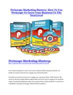 Periscope marketing mastery review and Exclusive $26,400 Bonus