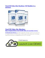 Viral FB Video Site Machine Review - SECRET of Viral FB Video Site Machine