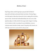 Royal Stag whisky