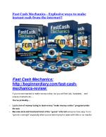 Fast Cash Mechanics review & Fast Cash Mechanics $22,600 bonus-discount