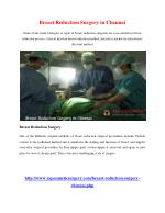 Breast Reduction Surgery in Chennai