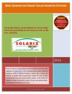 NEW GENERATION SMART SOLAR INVERTER SYSTEMS