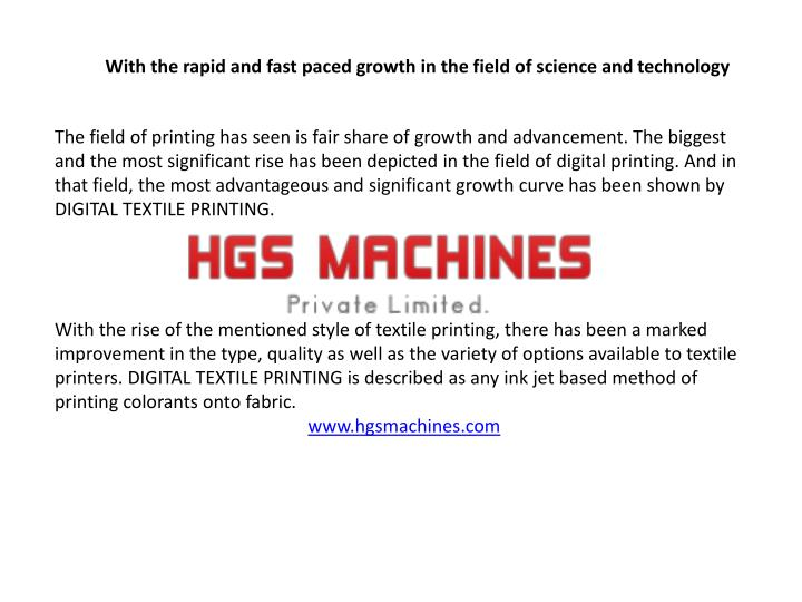 PPT - Digital Textile Printing Machine PowerPoint Presentation - ID