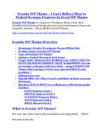 Eventix WP Theme Review - SECRET of Eventix WP Theme