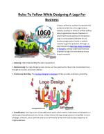 Rules To Follow While Designing A Logo For Business