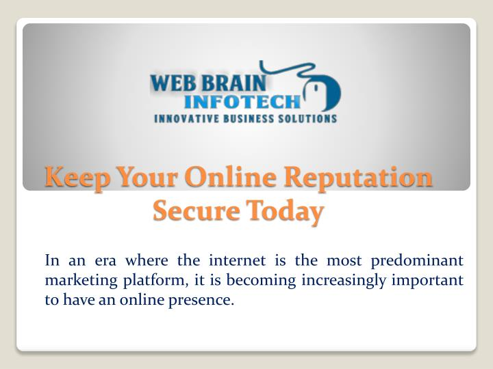 keep your online reputation secure today n.