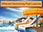 Different Swimming Pool Layouts