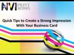 Quick Tips to Create a Strong Impression with Your Business Card
