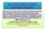 Uk cheap simple short wedding dresses