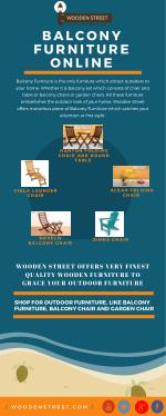Balcony Furniture Available Online In India @ Wooden Street