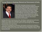 Postage Stamp on Sandeep Marwah by Government of India