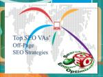 Top SEO VAs' Off-Page SEO Strategies