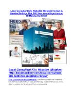 Local Consultant Kits Websites Mistakes review and sneak peek demo