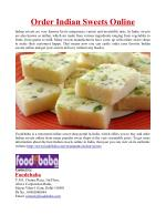 Order Indian Sweets Online