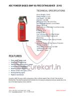 CEASEFIRE ABC FIRE EXTINGUISHER - 25 KG  Features & Specifications