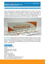 Buy Generic Crestor Rosuvastatin 20mg Online
