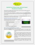 Buy Skin Care Products Online, Skin Care Product Manufacturers Mumbai
