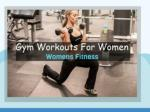 Gym Workout Plans for Women's Fitness