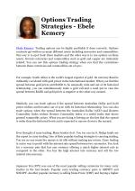 Options Trading Strategies - Ebele Kemery
