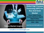 High Pressure Processing (HPP) For Rice And Grain Market size in terms of volume and value 2016-2026