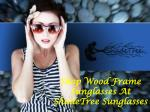 Shop Wood Frame Sunglasses At ShadeTree Sunglasses
