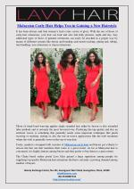 Malaysian Curly Hair Helps You in Gaining a New Hairstyle