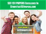 SCI 151 PAPERS Excellence In Study/sci151papers.com