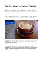 Tips On Coffee You Need To Know