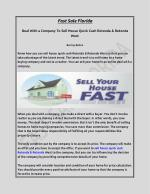 Deal With a Company To Sell House Quick Cash Rotonda & Rotonda West