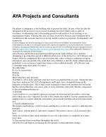 AYA Projects and ConsultantsAYA Projects and Professionals had begun the base from Central Indian yet is currently attem