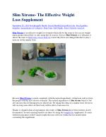 Slim Xtreme- The Effective Weight LossSupplement